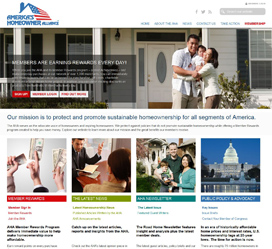 Custom web development for America's Homeowner Alliance
