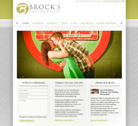 Brock's Photography OKC Custom Website Development
