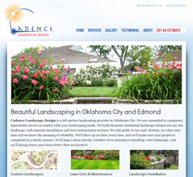 Cadence Landscape Design Small Business Website