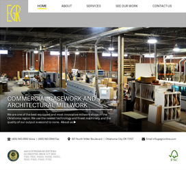Construction Website Design for EGR Construction, Inc.