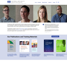 Fenway Institute's National LGBT Health Education Center Website Design