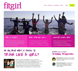 Custom website design and development for Fitgirl in Duluth