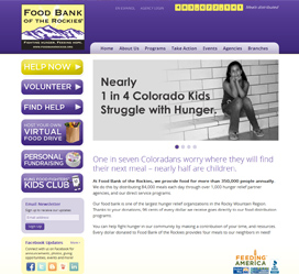 Non-Profit Website Design for Food Bank of the Rockies