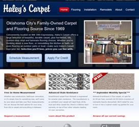 Haley's Carpet Small Business Web Design