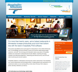 Hospitality Website Design for Hospitality Solutions Duluth