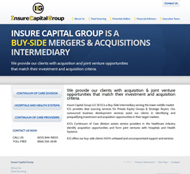 Insure Capital Group Website Re-Design
