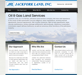 Energy Website Design for Jackfork Land, Inc.