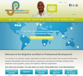Personal Speaker Website Design for Johnson Performance Systems