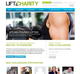 Custom web development for LIFT 4 Charity Fitness-Based Fundraising