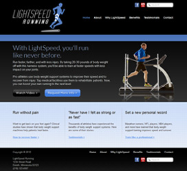 Website Design for LightSpeed Running