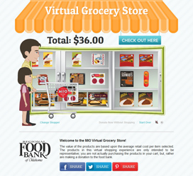 Custom website development for MIO Virtual Grocery Store