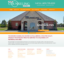 Psychiatry Website Design for Moore Counseling Center
