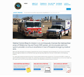 Medical Association Web Design for Oklahoma Medical Control Board