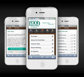 Regional Food Bank of Oklahoma Mobile Website Development