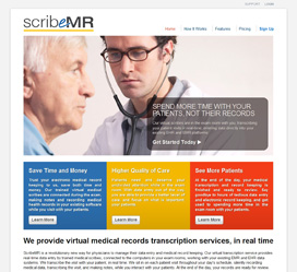 Custom Web Site Development for ScribeMR Virtual Medical Transcription