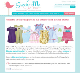 E-Commerce Web Store Design for Smock It To Me