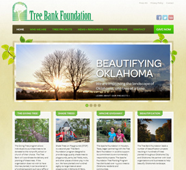 Non-profit Web Design for The Tree Bank Foundation of Oklahoma
