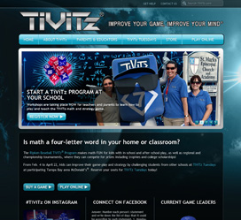 Custom Website Design for TiViTz - Math Strategy Game For Kids