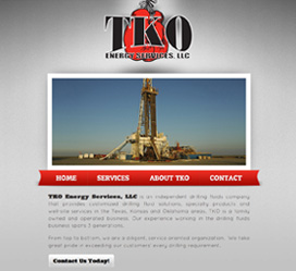 Oil and Gas Industry Website Design for TKO Energy Services, LLC