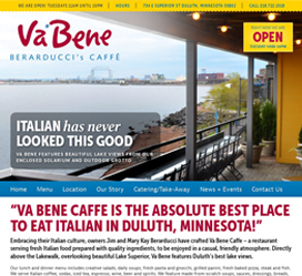Restaurant Web Design for Va Bene Caffe