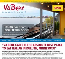 Restaurant Web Design for Va Bene Caffe