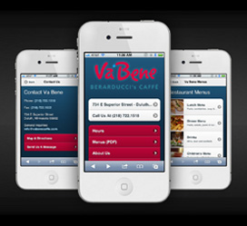 Va Bene Caffe Mobile Website Development