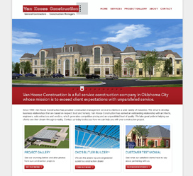 Construction Website Design for Van Hoose Construction